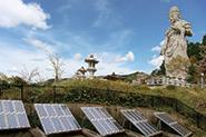 壷阪寺の太陽光発電